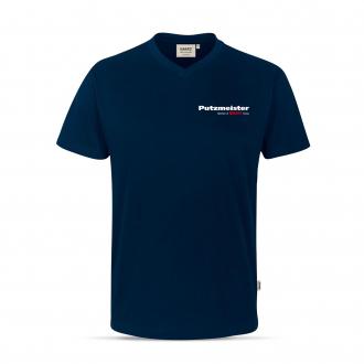 V-Neck T-Shirt in Tinte XXL